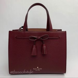 Kate Spade Hayes Small Satchel in Cherrywood